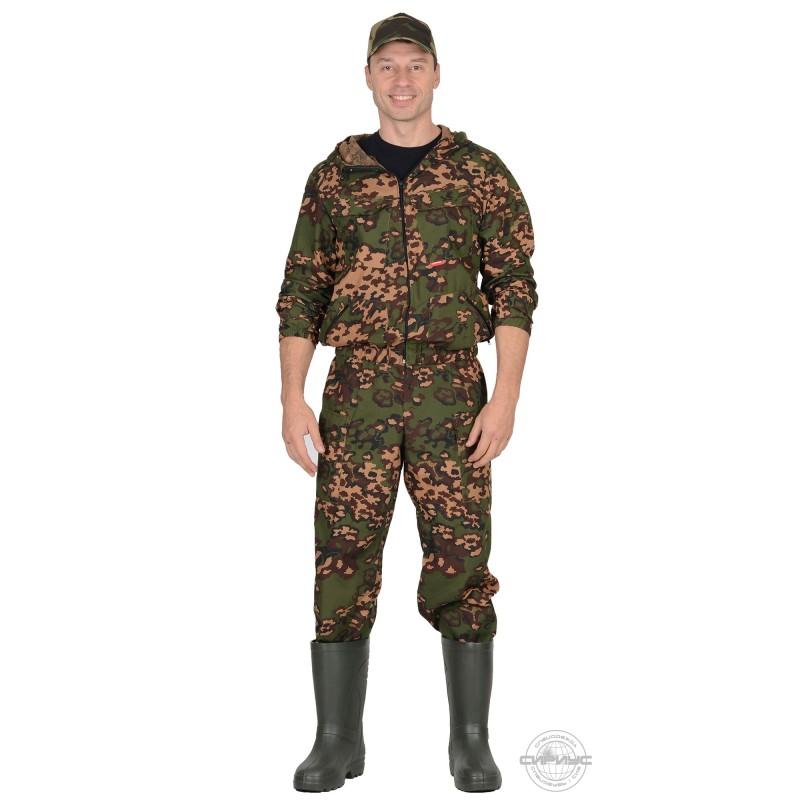 "СТАЛКЕР костюм, куртка кор.,брюки (тк.сорочечная) КМФ ""Цифра"" зелёная"