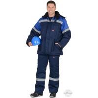 ЛЕГИОНЕР 50 костюм, куртка , п/к., темно-синий с васильковым с СОП 50мм