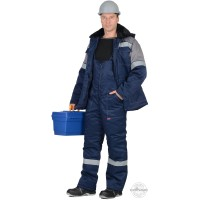 ЛЕГИОНЕР 50 костюм, куртка, п/к темно-синий с серым СОП 50мм