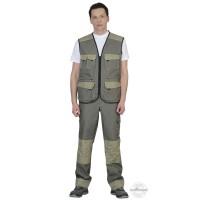 ВЕСТ-ВОРК костюм летний, жилет, брюки оливковый