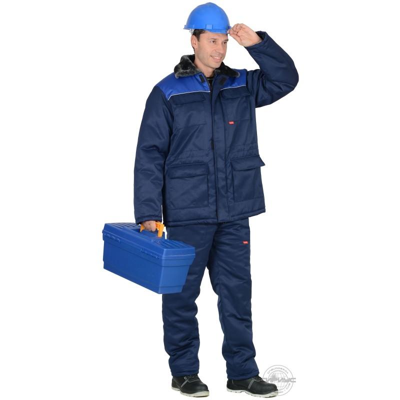 РОСТ-ГРЕТТА костюм, куртка дл., брюки, синяя с васильковым