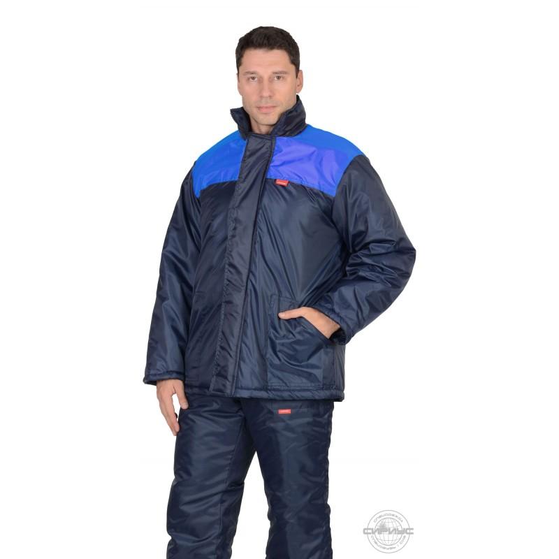 РОСТ куртка синяя с васильковым