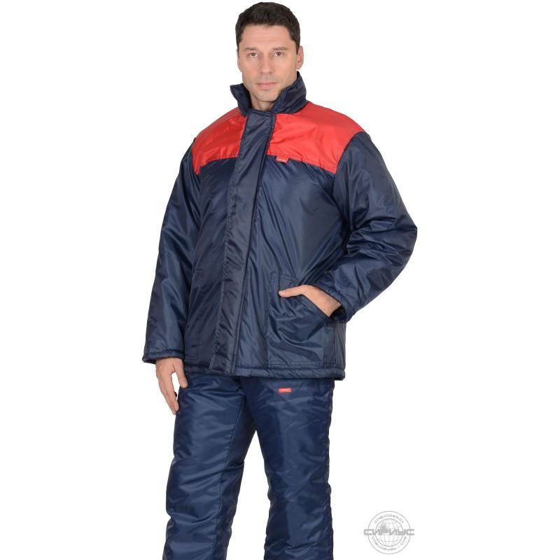 РОСТ куртка синяя с красным