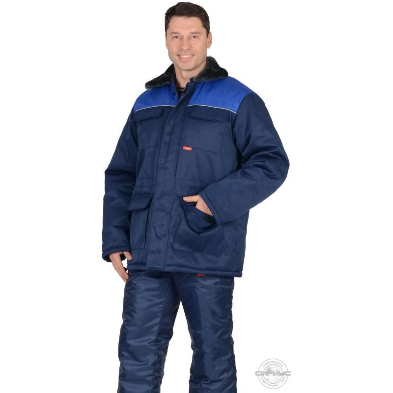 РОСТ-ГРЕТТА куртка дл., синяя с васильковым