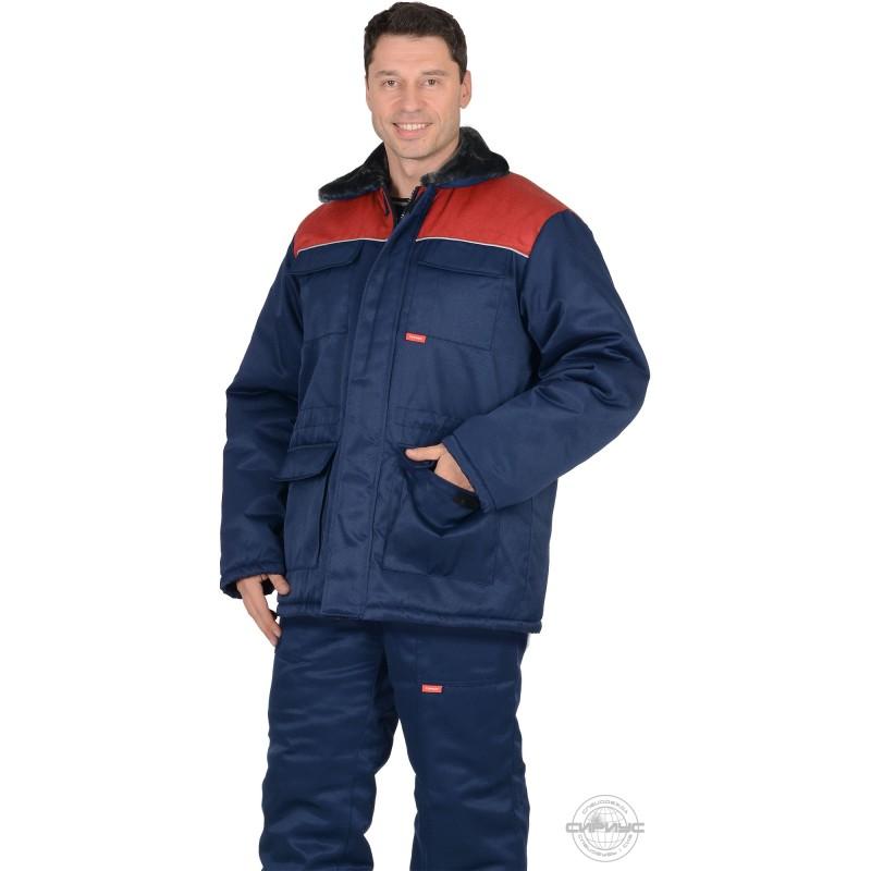 РОСТ-ГРЕТТА куртка дл., синяя с красным