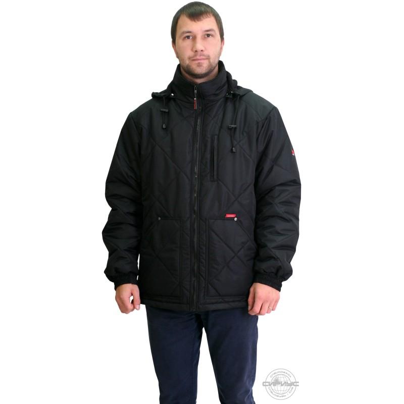 ПРАГА-ЛЮКС куртка мужская, с капюшоном, черная