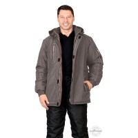 АЛЕКС куртка зимняя, мужская, цв. т-серый