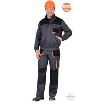 МАНХЕТТЕН костюм, кор. куртка, брюки, т.серый с оранжевым и черным