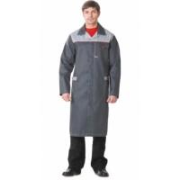 ФАВОРИТ халат мужской тёмно-серый со светло-серым