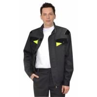 ХОВАРД куртка темно-серая с черной и лимонной отд.