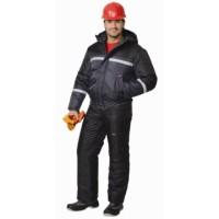 ГАСТАРБАЙТЕР-2 куртка кор.,тёмно-серая с чёрным и СОП