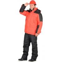 ЕВРОПА куртка дл., красная с чёрным