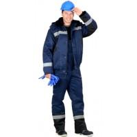 МАСТЕР-Д костюм зимний, куртка кор., полукомбинезон тёмно-синий с СОП