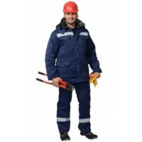 МАСТЕР-ПРО костюм зимний, куртка дл., брюки темно-синий СОП-50 мм