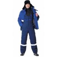 НОВАТОР костюм зимний, куртка кор., полукомбинезон синий с васильковым и СОП