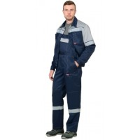ЛЕГИОНЕР костюм, куртка, полукомбинезон синий с серым и СОП 50мм