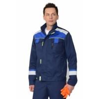 БОСТОН куртка темно-синий с васильковой и чер. отд.