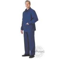 Костюм с налокотниками и наколенниками, куртка, брюки (диагональ) синий
