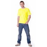 Футболка светло-жёлтая плотность 160 г/кв.м., х/б-100 % Узбекистан