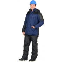 ЕВРОПА куртка дл., синяя с чёрным