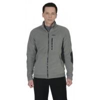 АКТИВ куртка флисовая серая, отделка черная