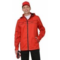 МЕЛЬБУРН куртка длин., летняя красная с черным кантом тк.Rodos (245 гр/кв.м)
