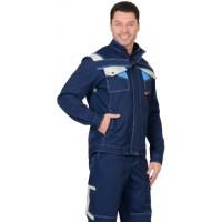 ПЕРСЕЙ куртка т.синяя с молочным и голубым