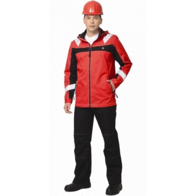 СИДНЕЙ костюм, куртка, брюки красный с черным тк.Rodos (245 гр/кв.м)
