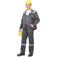СИТИ костюм, куртка кор.,п/к т.серый с св.серым и СОП