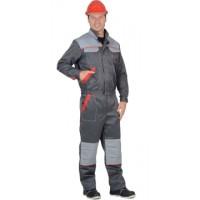 ФАВОРИТ-МАЯК костюм, куртка, п/к : т.серый со св.серым и красным
