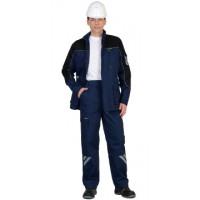 ФОТОН костюм мужской, куртка, брюки (темно-синий с черным) тк.Родос