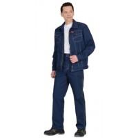 ТЕХАС костюм, куртка, брюки цв. синий тк.Rodos (245 гр/кв.м)