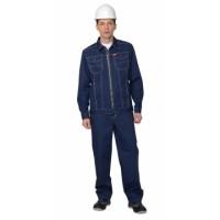 ТЕХАС костюм, куртка, п/к, синий тк.Rodos (245 гр/кв.м)