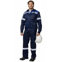 ТИТАН костюм, куртка кор., п/комб. синий с васильковым и СОП тк.CROWN-230