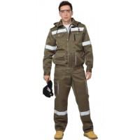 ТИТАН костюм, куртка кор., п/комб. хаки с СОП тк.CROWN-230