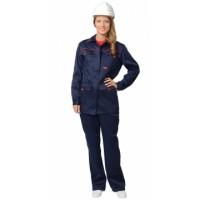 УДАРНИЦА костюм женский, куртка, п/комб.тёмно-синий с красным кантом тк.CROWN-230
