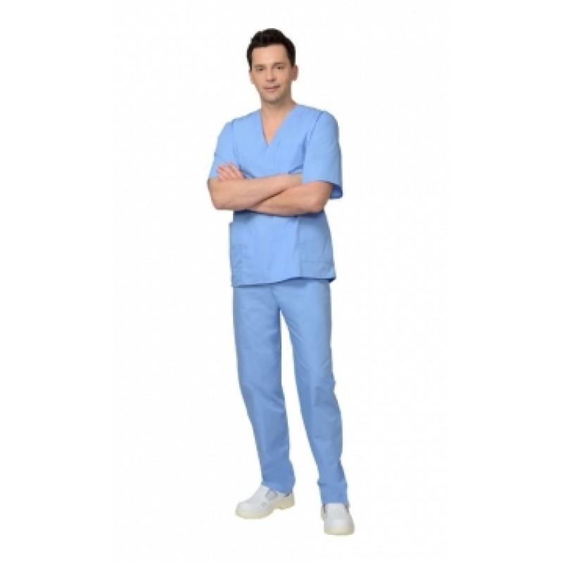 Костюм хирурга универсальный, блуза, брюки голубой