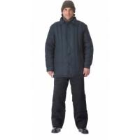 УТЕПЛЁННАЯ куртка (диагональ, 2,6 кг ваты) чёрная