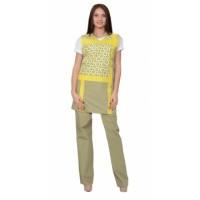 ГАЛАТЕЯ комплект женский, фартук, брюки оливковый с желтым