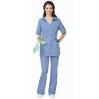ЖЕНЕВА костюм женский, куртка, брюки светло-голубой с тёмно-синим