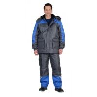 ФОТОН костюм зимний, куртка дл., брюки тёмно-серый с васильковым и СОП-25 мм