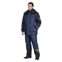 ФОТОН костюм зимний, куртка дл., брюки тёмно-синий с черным и СОП-25 мм