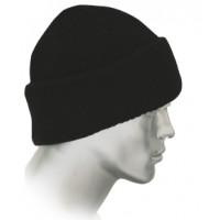 ЛЮКС шапка трикотажная полушерстяная черная