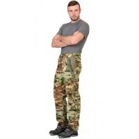 РОВЕР брюки флисовые КМФ Мультикам, отделка хаки