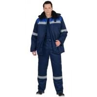 СЕВЕР-2 костюм зимний, куртка дл., брюки синий с васильком и СОП(съемный утеплитель)