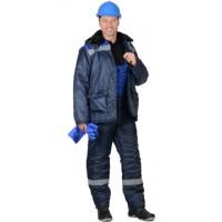 СТРОЙГРАД-2 костюм зимний, куртка дл., п/к синий с васильковым и СОП