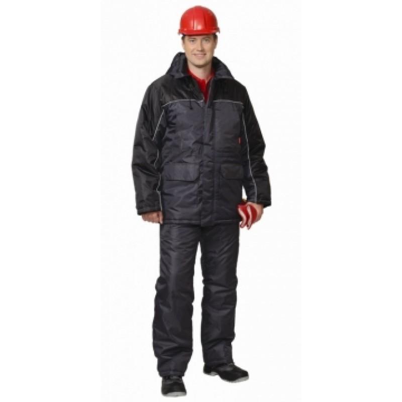 БАЛТИКА костюм, куртка дл., полукомбинезон тёмно-серый с чёрным