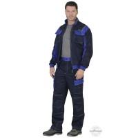 КАРАТ костюм, куртка, брюки т.-синий с васильковым
