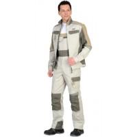 КАСПИЙ костюм, куртка, п/комб., молочный с оливой, песочным и СОП Тк. Rodos