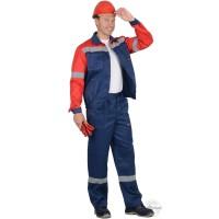 ЛЕГИОНЕР костюм летний, куртка, брюки синий с красным и СОП 50 мм